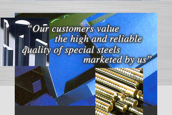 Our customers value the high and reliable quality of special steels marketed by us.